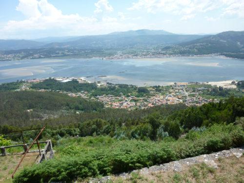 Baixo Miño. A Guarda. Vista desde Santa Tegra.